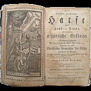 SALE Die Kleine Geistliche Harfe 1803 Mennonite German Hymnal Germantown Pa Billmeyer FE Book