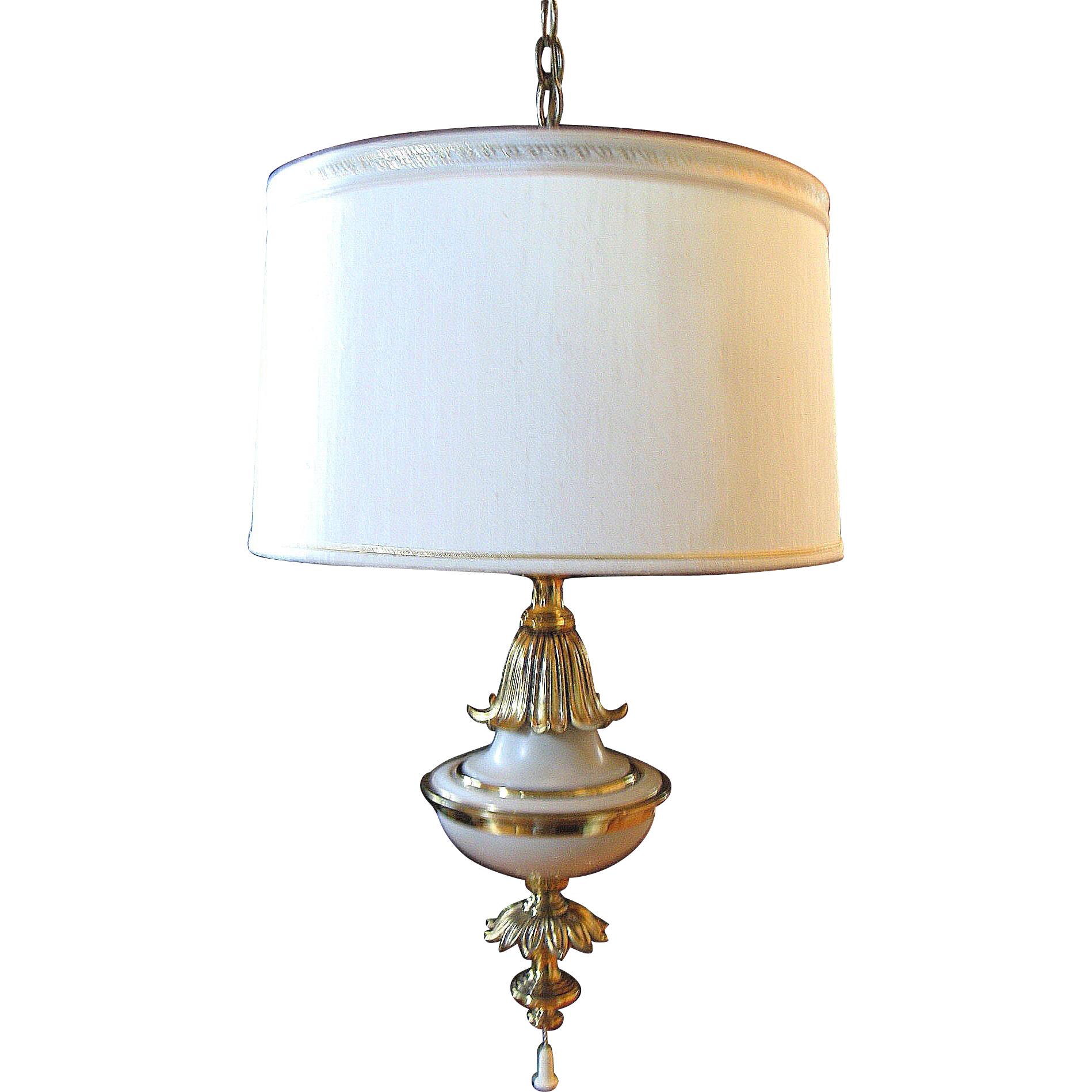 Brass Chandelier Ceiling Lights : Vintage stiffel ceiling lamp light fixture hollywood