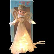 Vintage Angel Light Christmas Tree Topper Tulle Japan
