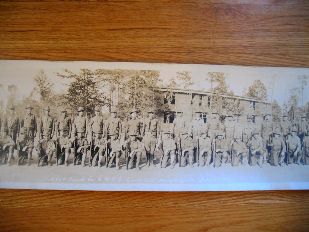 WWI WW1 Panoramic Photo Army 449th Truck Co. Camp  Humphreys Va Engineers 1918