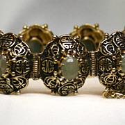 1960's 14 Karat Jadeite Bracelet
