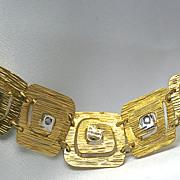 1950's Hand Fabricated 14 Karat Yellow Gold Bracelet