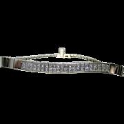 Estate Ladies 18K White Gold Bracelet Embellished with Diamonds