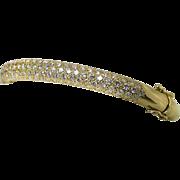 Estate Ladies Diamond Studded 18K Yellow Gold Bangle Bracelet