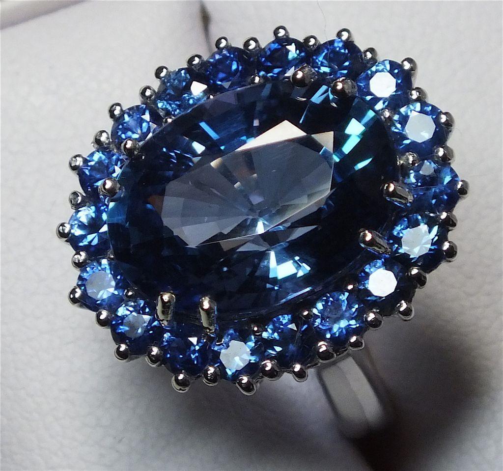 Carat Tanzanite: Beautiful Estate 10.74 Carat Tanzanite, Sapphire And Diamond Ring From Gondwanalandopals On Ruby
