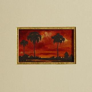Palms at Sunset Near Grand Isle