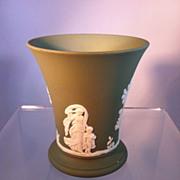 Green Jasperware Wedgwood vase/cup