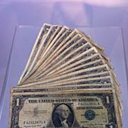 SOLD 1957A Silver Certificates 18 bill lot