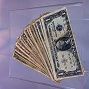 1957B Silver Certificate 15 bill lot