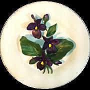 Italian Capodimonte Violet Plate
