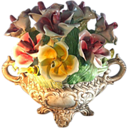 Large Capodimonte Floral Arrangement