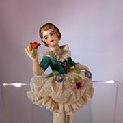 "German ""Dipped Lace"" figurine"