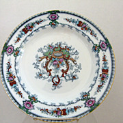 """Cauldon England 10.25"""" Plate c. 1905 Great Colors and Design"""