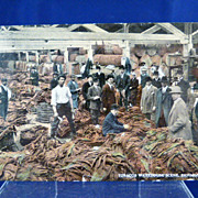 Tobacco Warehouse Scene, Richmond VA  1917 Post Card