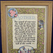 Collection of Four Mother Motto Framed Prints