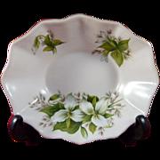 Vintage Royal Albert Trillium Pattern Oval Sweet Meat Dish Bone China