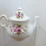 "3"" Teapot Floral Design Ashley Down English Fine Bone China"