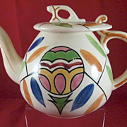 5 Cup Teapot with Hook Lid & Great Colors