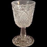 """EAPG """"Massachusetts"""" Pattern Wine Glass"""