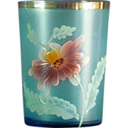 Victorian Frosted Blue Painted Tumbler