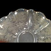 SALE Fostoria Glass Torte Plate