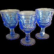 "Set of 3 Fostoria HFM ""Argus"" Pattern Goblets"