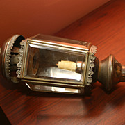 SALE Vintage Candle powered Carriage Lantern