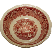 Mason's 9 Inch Vegetable Bowl in the Vista pattern - Ironstone Red Transferware by Mason's