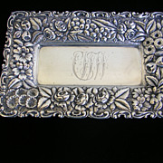 Sterling Repousse Calling Card Tray-Jacobi & Jenkins  c.1900