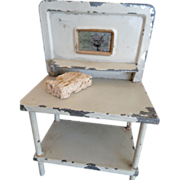 Tin Dollhouse Washstand