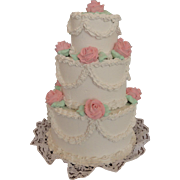 Gorgeous Wedding Cake, 6 1/2 Inches Tall