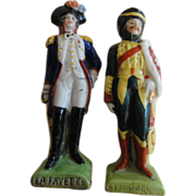 SALE SALE Pair Miniature Porcelain Soldier Figurines
