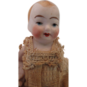Sweet All Bisque Jointed Baby Doll, Original Clothes