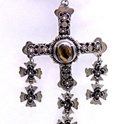 REDUCED Taxco Mexico Sterling Eagle Assay Period Yalalag Mexican Cross