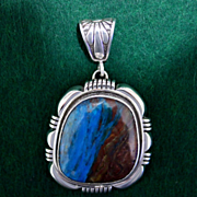 REDUCED Native American Navajo Australia Boulder Opal Pendant