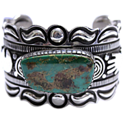 REDUCED Native American Alex Sanchez Sterling Turquoise Bracelet