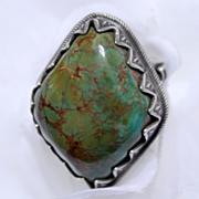 Native American King Manassa Turquoise Ring