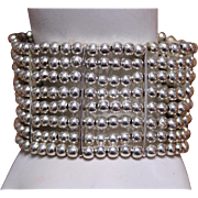 REDUCED Vintage Silver Bead Bracelet