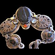 REDUCED SouthWest Style Trilobite, Ammonite and Jasper Bracelet