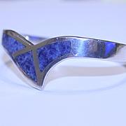 REDUCED Taxco Sodalite Sterling Snap Bangle Bracelet
