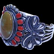 REDUCED Native American Navajo Kirk Smith Sterling Turquoise Bracelet