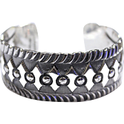 REDUCED Native American Sterling Navajo Large Bracelet