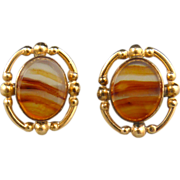 Beautiful Scottish Agate and 12K GF Earrings
