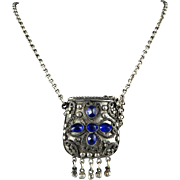 "Tribal Style Purse Locket Necklace 28"""
