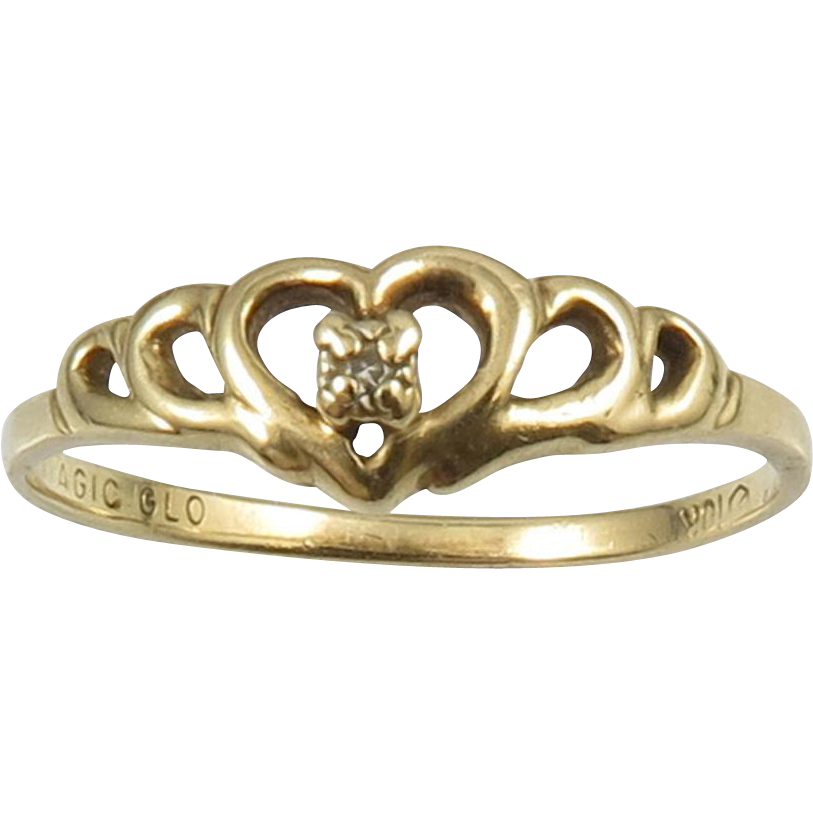 10k gold and promise ring