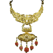1970s Rare Persian Revival Collar Necklace Signed by Onik