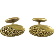 Victorian 14K Gold Repousse Style Cufflinks