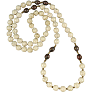 """Riverstone Jasper and Cloisonne Bead Necklace 32"""""""