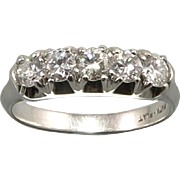SALE 1/2ctw Platinum and Diamond Ring c1940