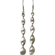 Taxco Twisted Silver Dangle Earrings